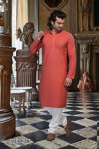 #Vivah Collection # Kurta With #OffwhiteBottom #chikankurta #Indianlook #chikankari #withcolours #Trendy #red #red-hot #indianwedings #lookgoodfeelgood #betraditional #whiteloverforever #forRich & #RoyalLook to Know more details whatsapp on 919820936178