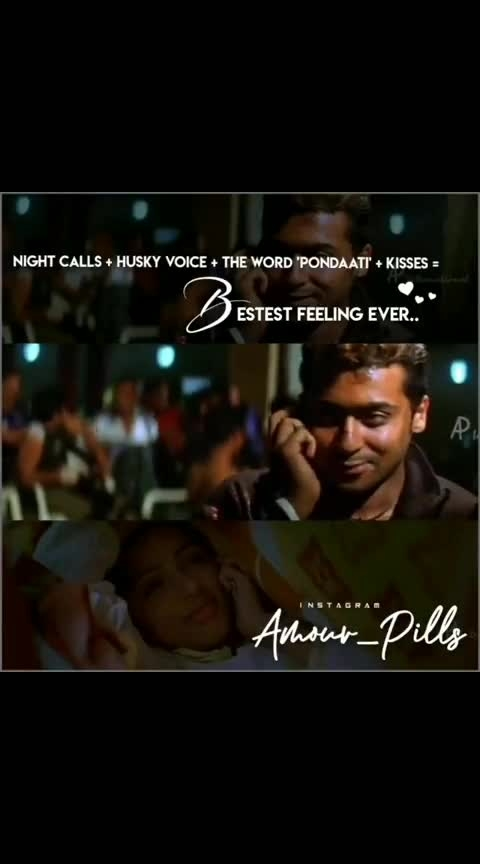 NIGHT CALL 💛 HUSKY VOICE 💛 ONE KISS'S ◆ ◆ NIGHT LOVE #nightscenes #nightlovers #onekiss #suriya #kadhal #ngk #roposo-goodnight
