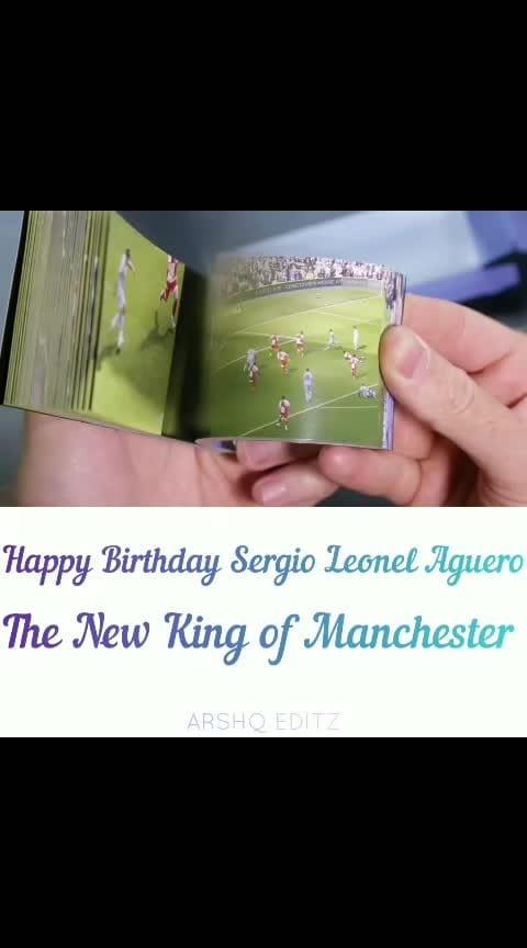 Happy Birthday Sergio Aguero #sergioaguero #manchestercity #premierleague #champions #aguero