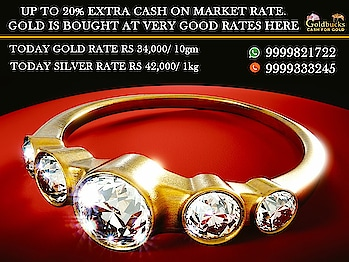 We buy your gold Cash For Gold-Silver Diamonds Jewellery market price, We also help you in Release your Old gold from Loan Institution all over Delhi NCR We buy all types of Gold whether in form of Hallmarked Jewellery, Kdm Gold, Coins, Ornaments, Pledged in Banks etc.Jewellery Buyback, Gold Scrap Buyers Your Gold will be Valued on basis of its Purity & Weight multiplied by the Gold rate that exists for the Day. We provide spot Cash payment & also provide door to door service if required We Also help you in releasing/pledge Gold from Banks like Mannapurum n Muthoot ,Private Lenders etc and buy back on the spot....9999198264  https://www.cashforgolddelhincr.com/blog/whats-best-at-cash-for-gold-in-silver-items/