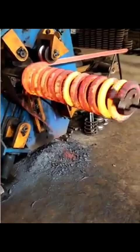cool mechanism for making coil spring
