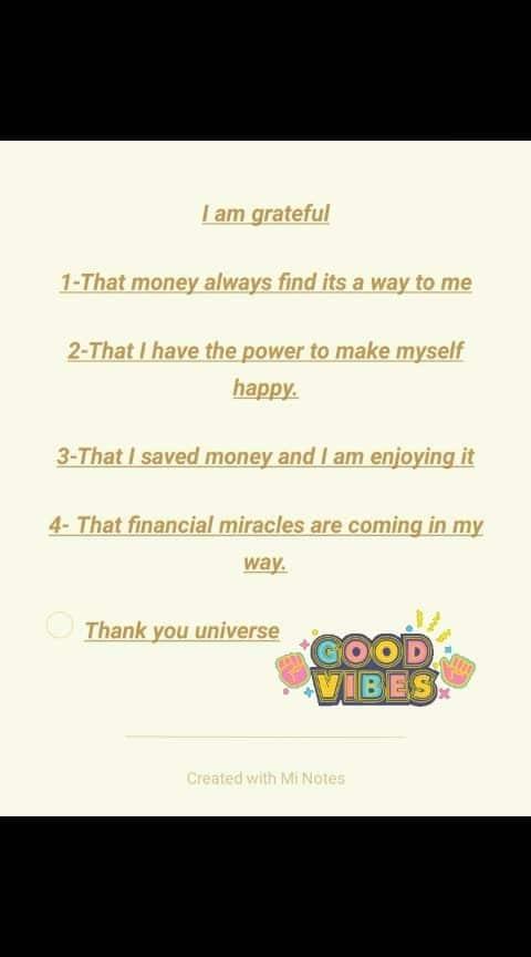 #financial #thankyouuniverse