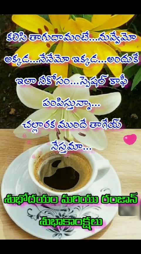 మనసున ఉన్నది.. #priyamainaneeku #happywednesday #happyramzaan #goodmorning-roposo #thanks-roposo-for-such-a-colourful-video #manasuna_unnadi #coffee