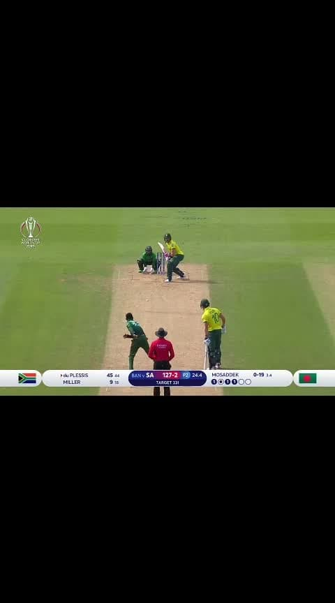 Cameraman snags du Plessis six #cwc19 #duplessis #worldcup2019