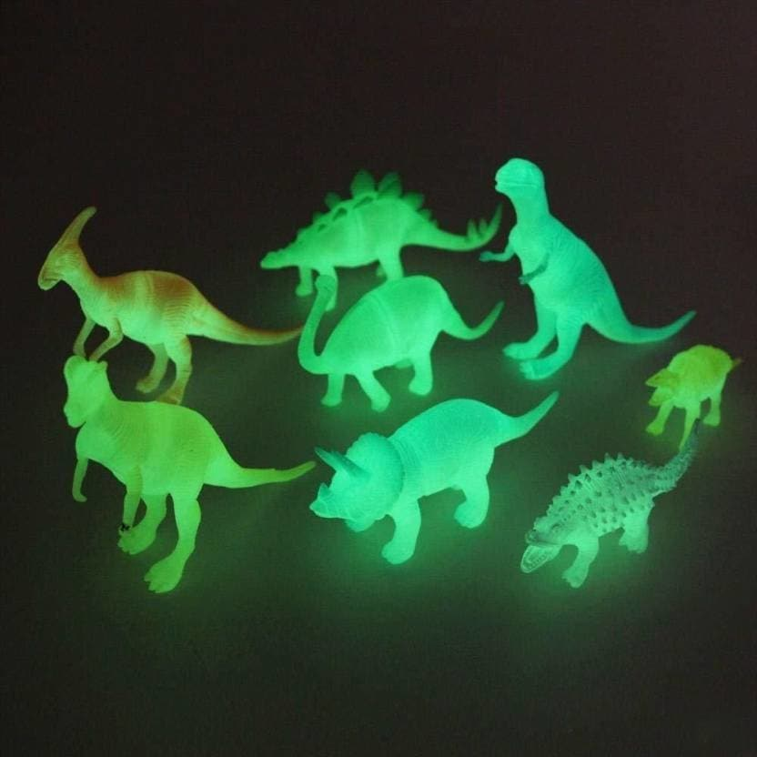 ZZ Zonex 8Pcs Kids Plastic Luminous Glow in The Dark Noctilucent Cartoon Simulation Dinosaur Models Toys Decoration Party Favor Gift for Kids- Multicolored  (Multicolor)  Rs. 365/-  Click here for buy:  https://bit.ly/2K7lT0B