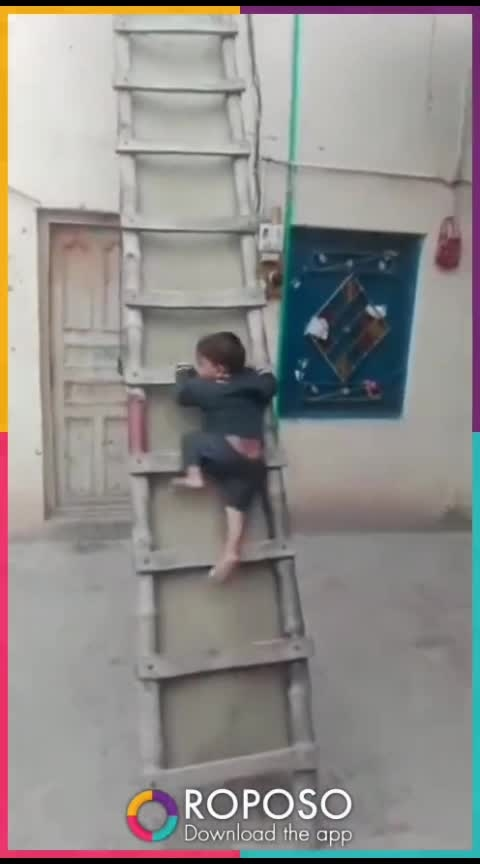 #kid climbs on stairs so easily !!!!