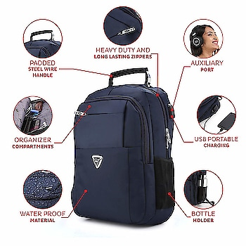STAR Laptop Bag 30 L Stylish Casual Waterproof Laptop Backpack/Office Bag/College Bag/Business Bag/Unisex Travel Backpack USB Charging Breathable Cushion Back with Shoulder Shocker  Rs. 1399/-  Click here for buy:  https://is.gd/ddDaqQ