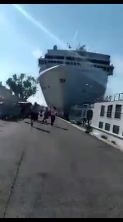 Cruise ship crash in vahish