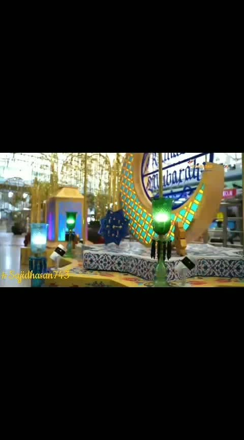 Hyderabad Airport decorated with Eid Mubarak decorations.   First time in lndia