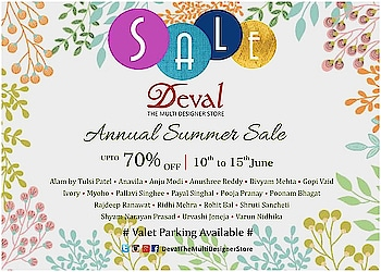 Save the dates : 11th to 15th June 2019.  Deval The Multi Designer Store invites you to the Annual Summer Sale - up to 70% Off on all your favorite leading Indian designers!!! Don't miss the opportunity!!! #devalstore #annualsale #designersale #devalsale #summersale #designerwear #sale2019 #designercollection #indiandesigners #ahmedabad #discountsaleinahmedabad #womenswear