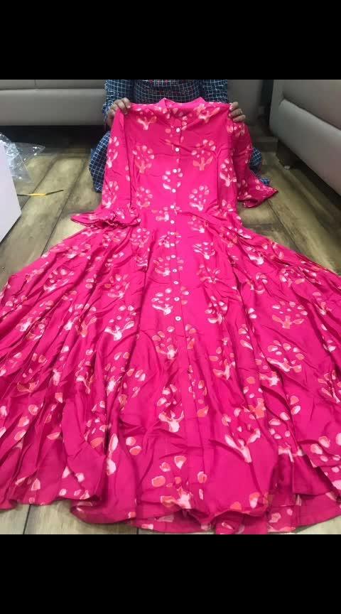 #floorlength #tprs #₹1699WithFreeShipping  Premium reyon cotton full flair gown . Size 38 40 42 44 46