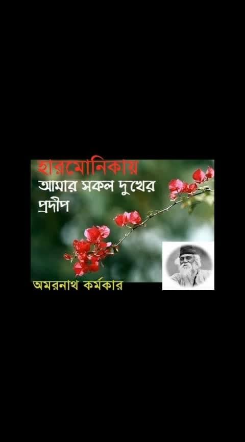 Tagore's song 'আমার সকল দুখের প্রদীপ...' on harmonica