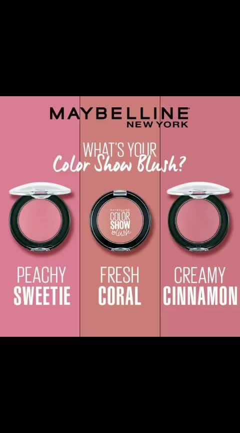 Hey Babe-ellines, we've got 3 fresh shades for a flawless finish. Tell us your blush shade in the comments below. #maybelline #newyork #color #crush