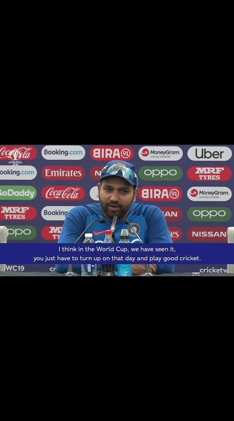 CWC19: IND v AUS - Rohit: 'It's going to be a great contest #cwc19 #worldcup2019 #rohitsharma