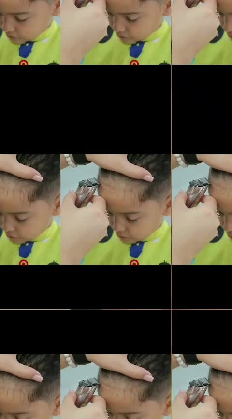 new hair cutting for a kid by a girl in Unisex salon