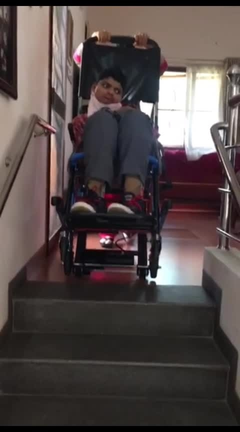 """👆🏻👆🏻👆🏻👆🏻👆🏻 There's this Parsi guy in Mumbai who's making these wheelchairs which can go up and down stairs effortlessly. Very useful for he elderly living in buildings without lifts. Jamshed Dalal  +919890149666 His company name is """"Seedee"""". Pls circulate amongst your friends.  He's also looking for dealerships as well."""