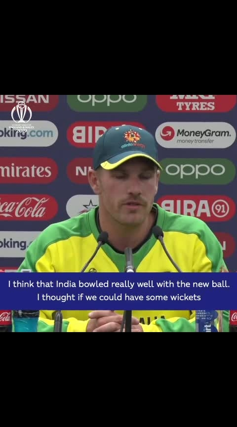 """""""We just lost wickets at key times."""" #AaronFinch believes Australia were in """"decent positions"""" at various points during #IndvAus.  #CWC19 #cricket #lovecricket #australia"""
