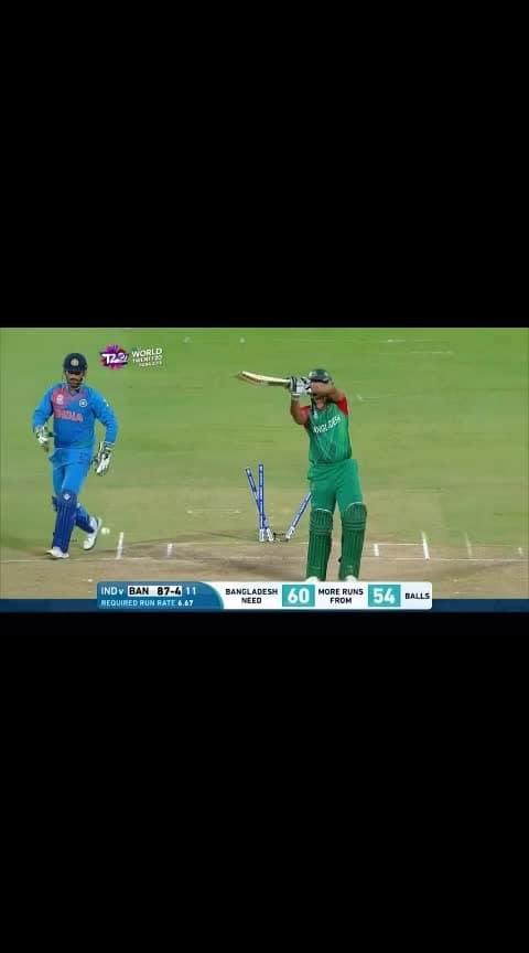 #cricket #ind-ban #dhoni #hardikpandya #final over #roposo-sport  #roposo-sports