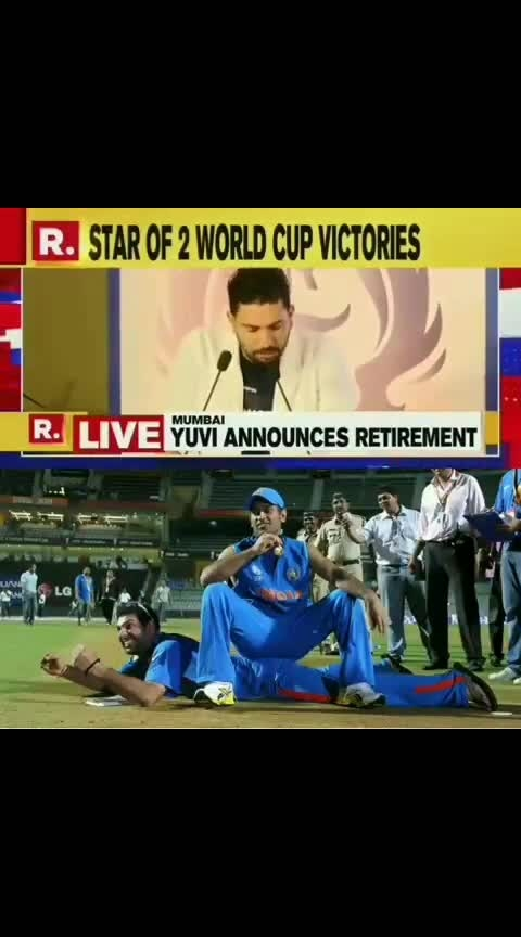 Yuvi Retirement from international Cricket #yuvi #bcci #yuviretirement #cwc19