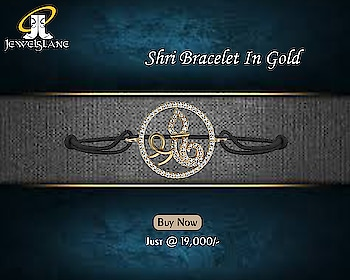 Shri Bracelet In Gold. Visit - http://bit.ly/2WZlKS3 #Shri Bracelet #Shri #ShriGoldBracelet #Diamond Bracelet #gold bracelets #Silver Bracelet #jewelslane #aumkaara #shopjewellery #onlinejewellery #handmadejewellery #jewelerygifts #diamondjewelry #girlsbracelets