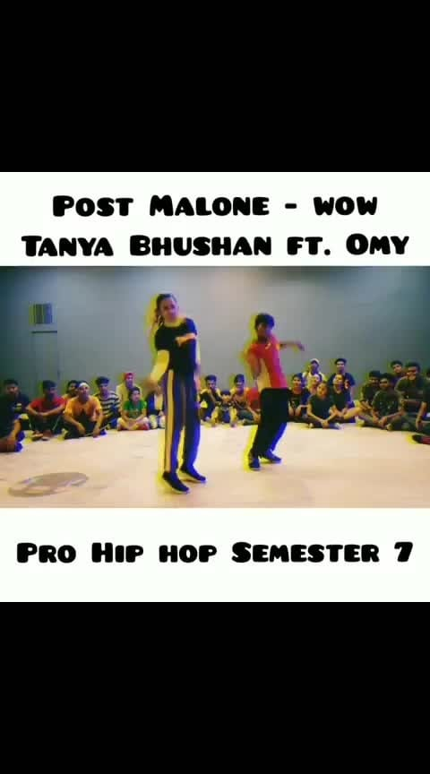 Wow - post malone   tanya bhushan choreography   #roposo-dancer #dancechoreography #hiphopdance