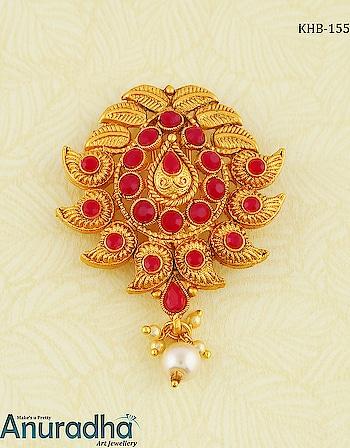Beautiful Collection Of Ambada Pin To Enhance Your Beauty. To see more designs on this link: https://bit.ly/2GvjPuo . . . . . . . . . . . . . . #ambadapin #hairpin #hairbrooch #traditionaljewellery  #fashionjewellery  #fashion  #jewellery  #artificialjewellery  #shamli #sooryavanshi #wednesdaywisdom #AnuradhaArtJewellery