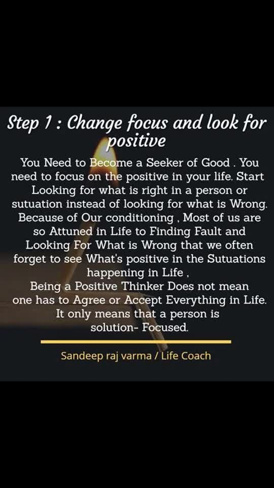 These are simple steps to change attitude #Lifelessons #Sandeeprajvarma #lifecoach #Entrepreneur #motivationaltrainer