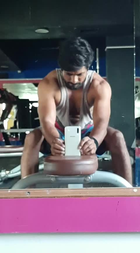 Single Dumbells pressing with both hands on chest and head position. (please catch the Dumbells properly and do with confidence)