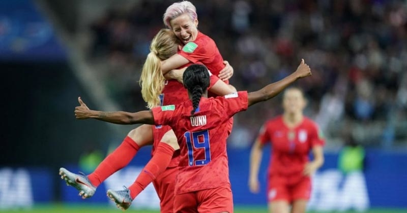 The USA have trashed Thailand 13-0 in their opening match of the Women's World Cup, to set a record for the most games ever scored in a World Cup match. With Alex Morgan scoring five of the 13 goals, she matched the record set by Michelle Akers for the most goals scored in a game. Read more - https://rapidleaks.com/sports/football/usa-thrash-hapless-thailand-13-0-in-womens-world-cup/ #ropos  #roponews  #ropofeeds #roponess #fifaworldcup #football #footballfever