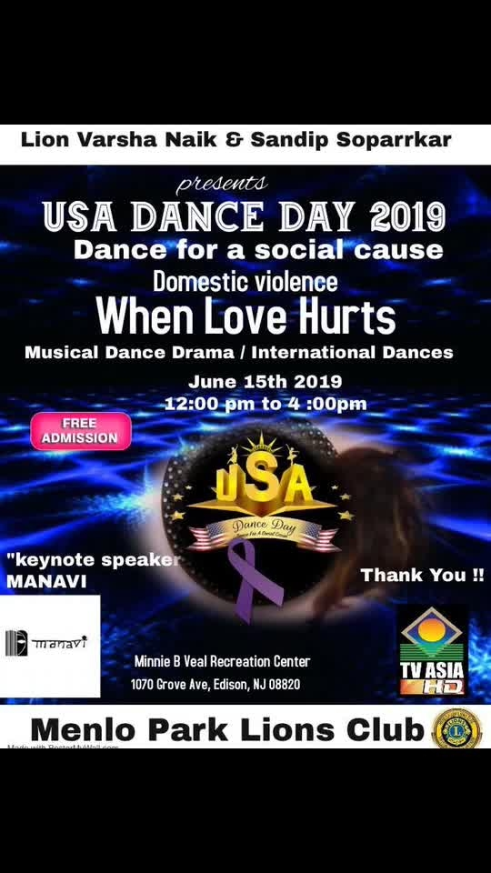 Here in New Jersey USA 🇺🇸 ... promoting my National excellence award winning Initiative... Dance for a Social Cause... this year our theme is... Domestic Violence - When love hurts...   A Big Thk u to @varshannaik ji for supporting n encouraging this initiative..   Event is on 15th June from 12-4 at Minnie B Veal Community Centre Edison Town, NJ... all are invited... it's free entry....   #show #event #newjersey #usa #unitedstates #unitedstatesofamerica #freeentry #entryfree #domesticviolence #domesticabuse #domesticviolenceawareness #dancedrama #danceforasocialcause #danceforacause #sandipsoparrkar #instagram #dancer #dance #edisontownship #usadanceday #usadance  #awareness #socialissues