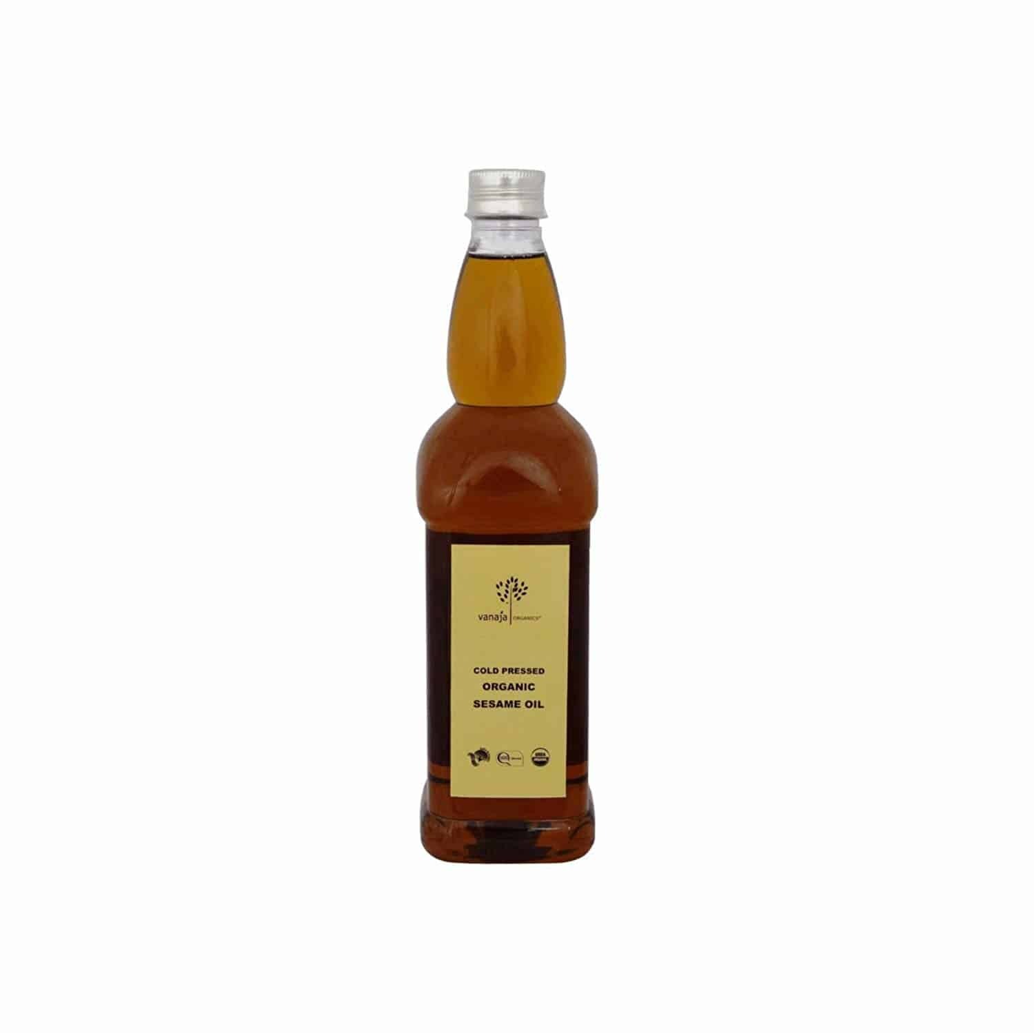 VANAJA ORGANICS Cold Pressed Sesame Oil (100 % Organic Sesame Oil) 750 ML  Price:	   270 Click here for buy : https://amzn.to/2T2JTlh Cold pressed Sesame oil – Physically filtered Healthy Skin and Hair Improves Bone Quality