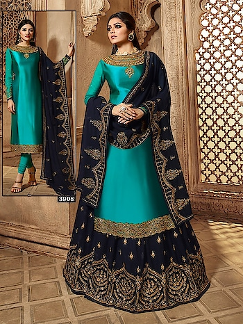Partywear Designer Embroidery Green Satin Georgette Salwar Suits ♥ Price:- 3199/- For Order What-app us (+91) 8097909000 Link For More Details 👉 https://bit.ly/2XhlRVL * * * * #salwar #salwarsuits #bollywood #prachidesai #celeb #bollywooddress #floorlenght #dress #anarkalisuits #frontslitsuits #indowestrensuits #dresses #longsuits #suitsonline #embroidered #onlinefloralsuit #floral #fashion #designer #partywear #exclusive
