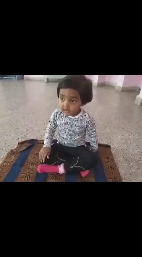 Cute little kid singing Aligiri Nandini song...