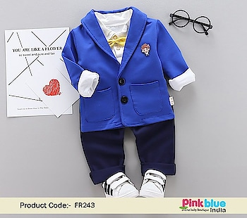 Boys Blue Blazer - Buy Party Wear Coat with T-shirt, Pants Set Contact :+918000011699 Shop Now : https://www.pinkblueindia.com/boys-blue-blazer-outfit-set.html  #kidsfashion #kidswear #instakids #boydresses #boysuits #formalclothes #birthdaydress #weddingoutfits #formalwear #luxurykids #partywear #boypartysuit #mumbai #delhi #jaipur #usa #instalikes #celebritykidswear #pinkblueindia