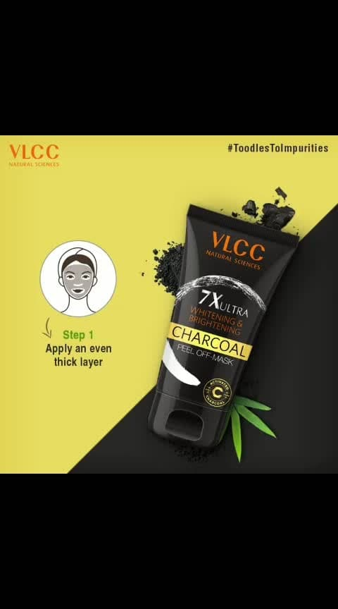 With VLCC Charcoal Peel-off Mask, remove blackheads and toxins from your skin in just 2 simple steps. Have you tried it yet? #ToodlesToImpurities