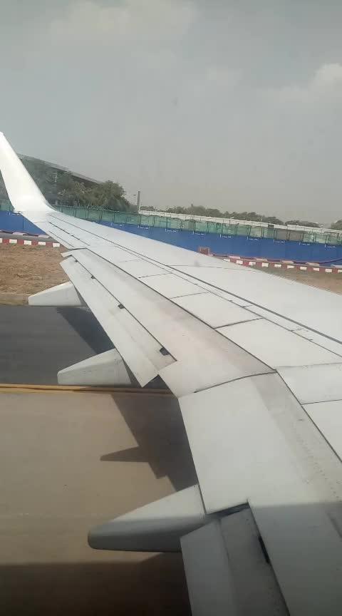 Plain on Runway