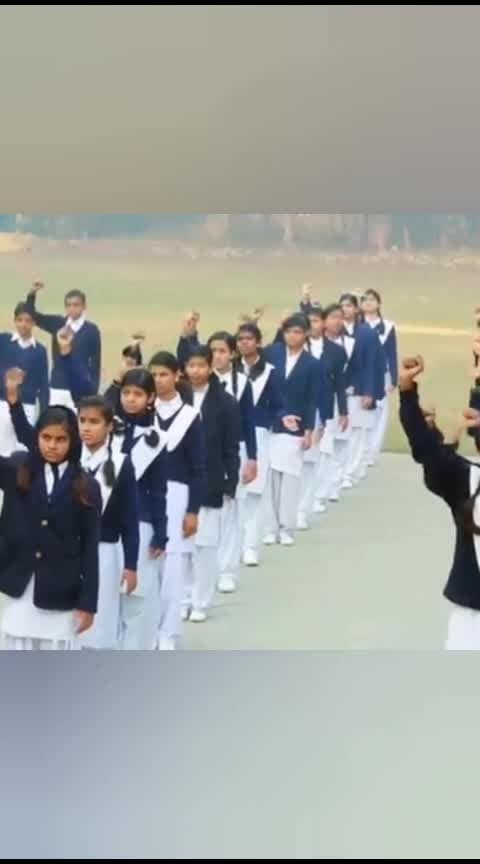National anthem in deaf and dumb school #jaihind #nationalanthem