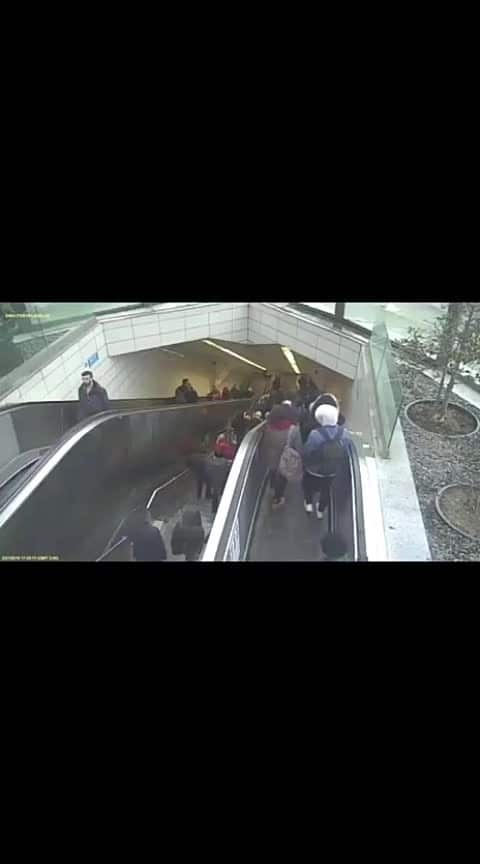 Pl. Take note that:  When an Escalator IS NOT OPERATIONAL, DO NOT use it as stairs. Reason being the weight on the escalator will force it to roll down. When it rolls the  speed can get higher & higher because it is uncontrolled. As a result, some steps may cave in. Please watch this Video👇