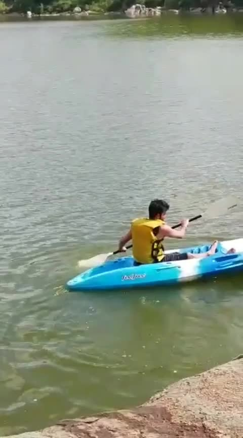 Kayaking at River kaveri #roposo-sport #kaveri #river #weekend #bengalurublogger