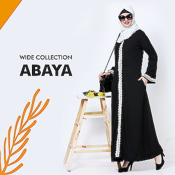 A simple yet sophisticated look that you can carry everyday, basic black flowy abaya with white lace detailing to provide an edge! Shop Now : https://bit.ly/2vAxHyv #abaya #hijab #traditionalclothing #outfits #muslimahchamber #frontopenabaya #muslimwomen #muslimgirl #hijabista #islamicwear #hijabfashion #hijabonline #hijabstyle #hijabootd #abayaindia #abayadress #abayamoden #abayalover #abayashop #abayafashion #embroideredabaya #blackabaya #blackhijab #hijabista #hijaboutfit #hijabmuslim #hijabi #islamicwear #islamicfashion #muslimahwear