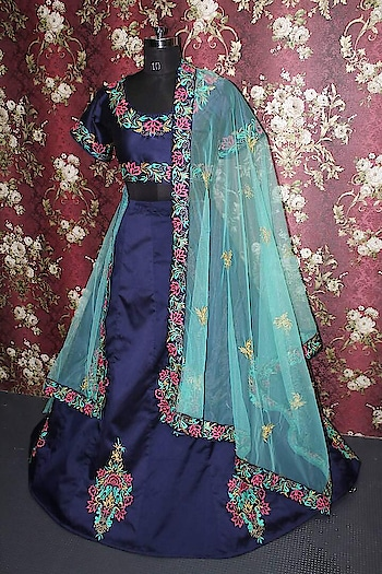 Bollywood Style -Designer Navy Blue Tafeta Silk Lehenga Choli - ZC7010  Order Online : https://bit.ly/2KnDjFN  For Order Call / Whatsapp : 09321219977 Flat 10% OFF on First Order ( Use Coupon - IAMNEW10 ) Get Free Home Delivery + COD + Easy EMI + Worldwide Shipping  Heavy Quality & 100% Same as Pic  #lehengacholi #lehenga  #embroidered #weddingcollection #bridalwear #fashionblog #lifestyleblog #weddingcollection #sale #storeadda #roposostyle #roposogal #weddingwear #weddingdress #ethnicwear #clothing #blogger #haldiceremony #weddingdress #croptop #crotoplehenga  #embroideredfabrics  #hevayworkedlehenga #heavyquality #selfie #ropostyle #ropolove #roposostyle #trends #onlineshopping #salealert #bridalcollection #bridalwear #bridallehenga