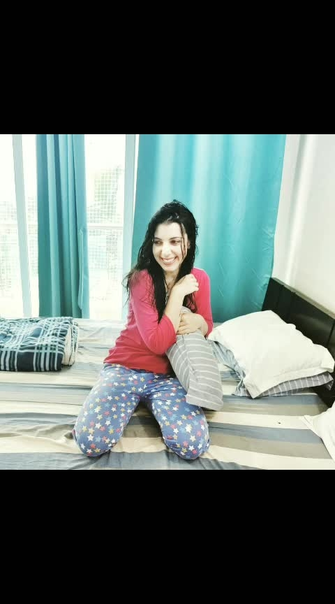 The heart wants what it wants, and my heart wants jammies and me time.  #KatHelgeson Wearing  @clovia_fashions  @instagladucame  #mood #instagood #fashion #clothes #clovia #mornings #india #mumbai #feels #fun #print #clothing #dresscode #Fashionista #fashionnova #pjamas #actor #model #comfortableclothes