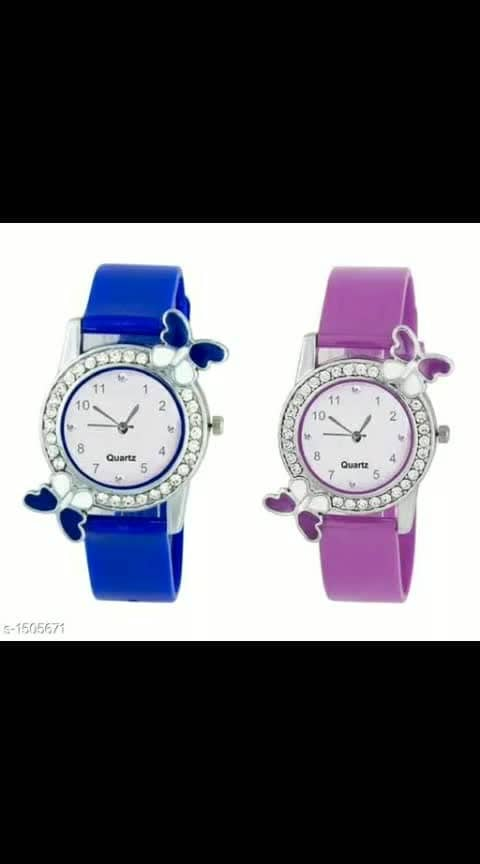 Allure Trendy Analog Wrist Watches Combo Vol 4  Material:  Leather Dial Shape: Round Type: Analog Size: Free Size Description:  It Has 2 Piece Of Women's Watches Dispatch: 2 – 3 Days price-318