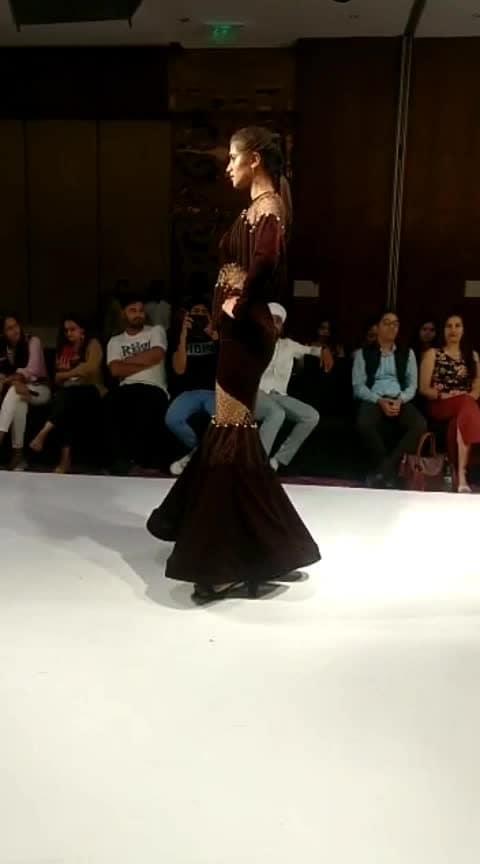 my #dress  on #ramp   #couture #runway #week  #fashiondesigner #modelling- #designer #designerdress