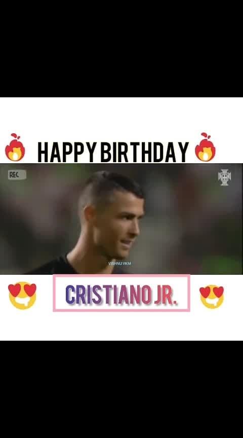 #roposo-sport  #cristianoronaldo jr #happybirthday