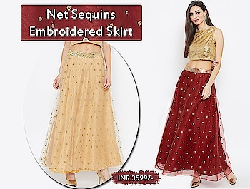Net sequins embroidered skirts @ 3599/-  https://bit.ly/2f2vmHL  #9rasa #colors #studiorasa #ethnicwear #ethniclook #fusionfashion #online #fashion #like #comment #share #followus #like4like #likeforcomment #like4comment #ss19collection #net #sequin #skirt #embroidery