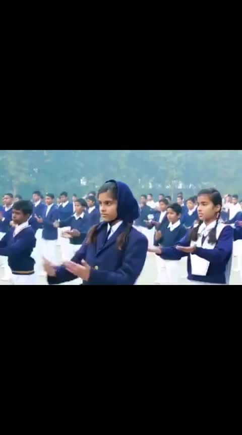 #National Anthem in deaf and dumb school.. #JaiHind🇮🇳🇮🇳