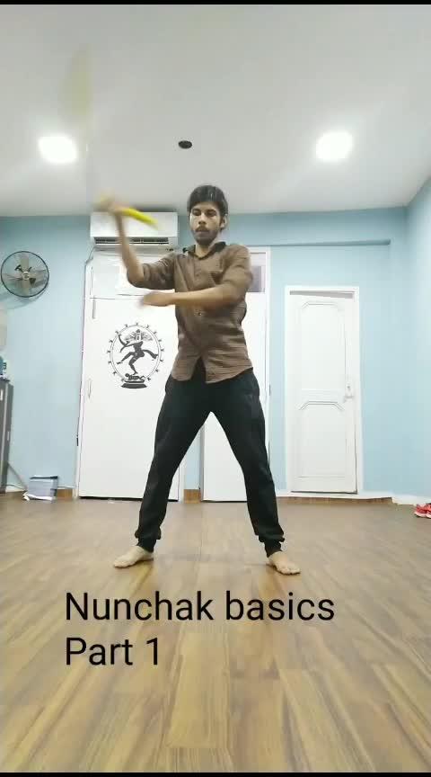Nunchak basics part 1 #nunchucks #kungfu #martialarts #workout #workoutmotivation #exercise #healthylife #fitnessaddict #fitnessgoal #roposo #roposoness #stayfit #stayfitandhealthy #roposostar