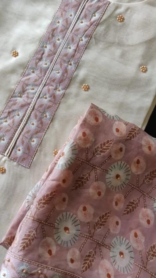 Rate:3650/-  Beautiful pure chanderi shirts with motiwork Shantoon bottom Pure Tabby silk printed dupatta with motiwork🌸🌸🌸