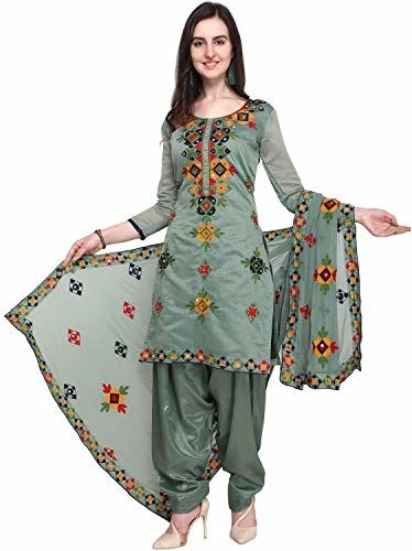 EthnicJunction Rajasthani Chanderi Embroidery Unstitched #Salwar #Kameez #Dress @ Rs.548. Buy Now at http://bit.ly/31KvaAD